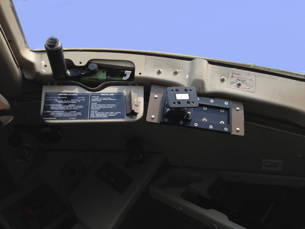 Boeing 767 Slide Mount Installed